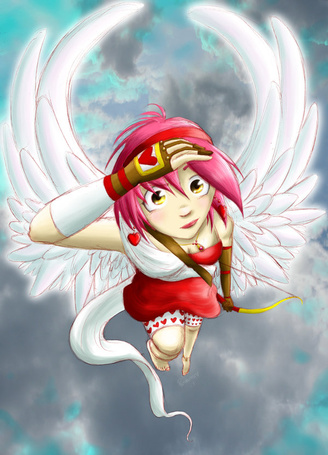 Фото Купидон, ангелок со стрелами и луком