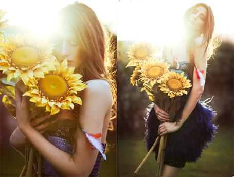Фото Девушка с подсолнухами (© Штушка), добавлено: 22.06.2011 22:14