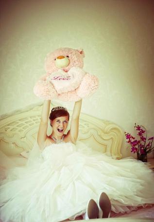 Фото Невеста с мишкой