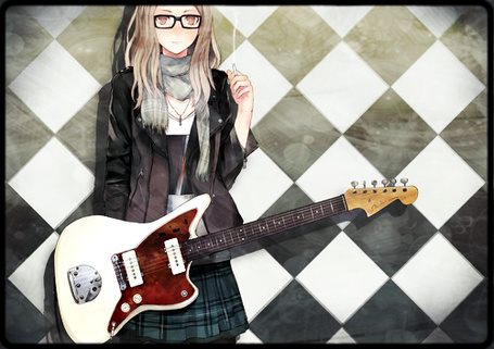 Фото Девушка с сигаретой и гитарой (© D.Phantom), добавлено: 01.07.2011 02:51