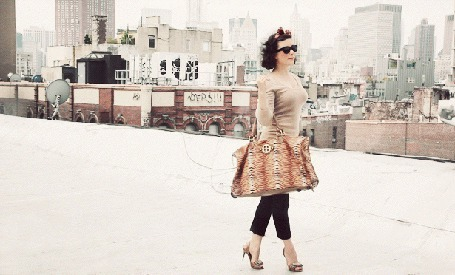 Фото Девушка стоит на крыше дома с качающейся сумкой в руке (© Anastasia_Ищтв), добавлено: 04.07.2011 12:28