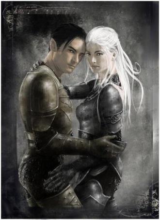 Фото Мужчина и женщина воины