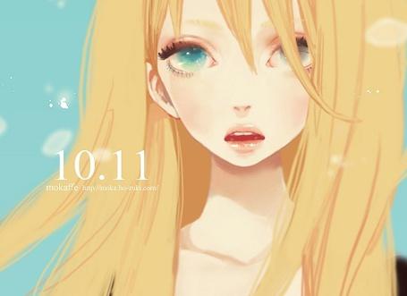 Фото Mokaffe - Блондинка с красивыми голубыми глазами