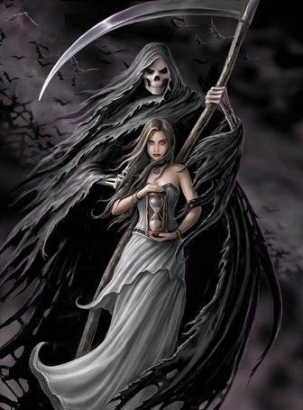 Фото Смерть стоит позади девушки (© Флориссия), добавлено: 10.07.2011 21:04