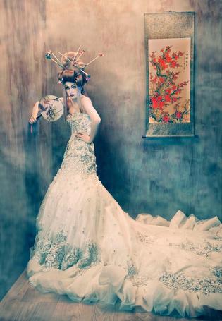 Фото Гейша в свадебном платье (© Radieschen), добавлено: 17.07.2011 11:04