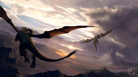 Фото Полёт драконов (© Флориссия), добавлено: 17.07.2011 13:59