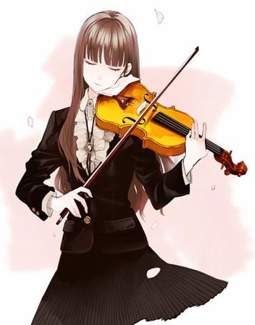 Фото Девушка играет на скрипке