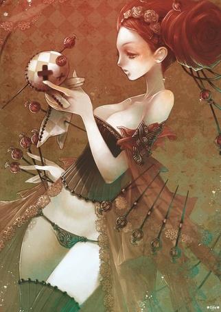 Фото Девушка в нижнем белье с куклой вуду (© Юки-тян), добавлено: 31.07.2011 14:39