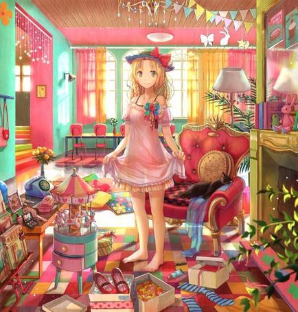 Фото Девушка в уютной комнате (© Юки-тян), добавлено: 31.07.2011 18:04