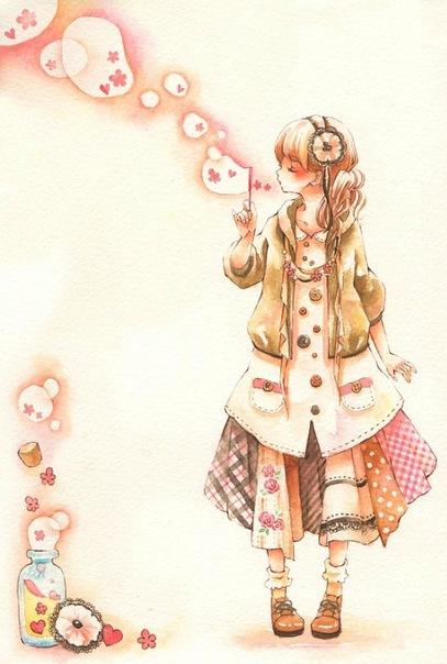 Фото девушка дует мыльные пузыри