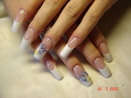 Фото Красивый французский маникюр с бабочками (© Fenix), добавлено: 01.08.2011 02:28