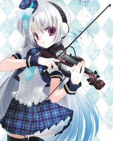 Фото Девушка играет на скрипке (© Юки-тян), добавлено: 05.08.2011 20:39