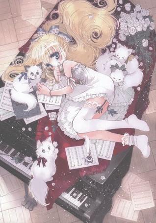 Фото Девушка лежит на фортепиано (© Юки-тян), добавлено: 05.08.2011 23:00