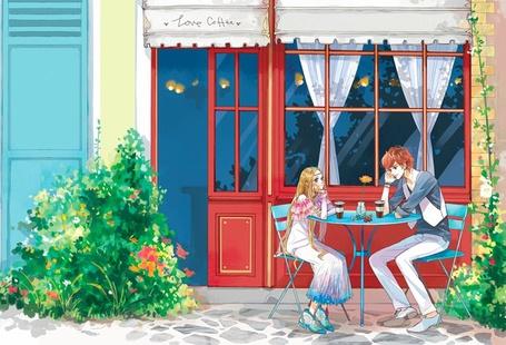Фото Столик возле кафешки (Love Coffee) (© Юки-тян), добавлено: 09.08.2011 10:13
