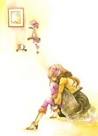Фото Модно одетая девушка в комнате (© Юки-тян), добавлено: 11.08.2011 15:21