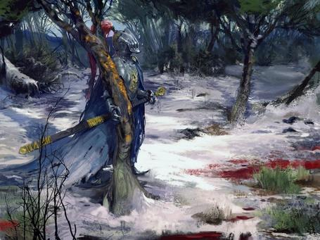 Фото Рыцарь на поле брани в зимнем лесу (© Anatol), добавлено: 12.08.2011 16:16