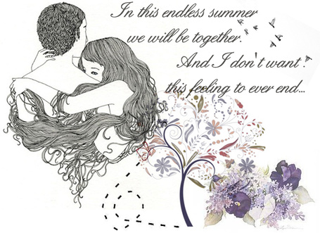 Фото Девушка обнимает парня (In this endless summer we will be together. And I don't want. this feeling to ever and...)
