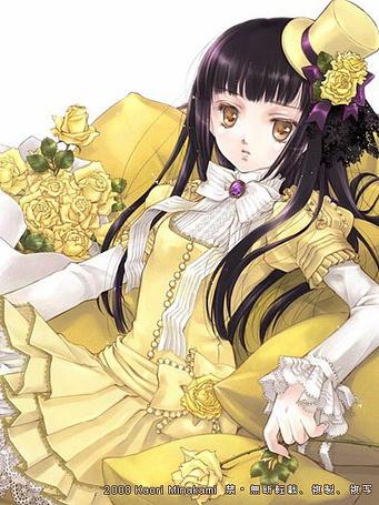 Фото Девушка в жёлтом платье (© Юки-тян), добавлено: 14.08.2011 17:32