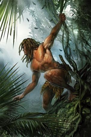 Фото Тарзан держится за лиану в джунглях. О принцах, героях и рыцарях (© Anatol), добавлено: 17.08.2011 00:13