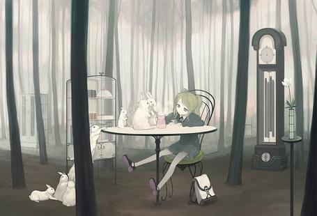 Фото Девушка сидит ща столом (© Юки-тян), добавлено: 17.08.2011 22:38