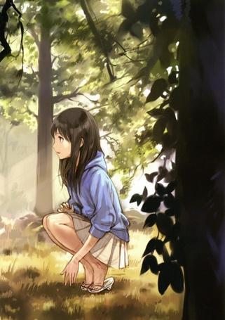 Фото Девушка в лесу (© Юки-тян), добавлено: 17.08.2011 22:58