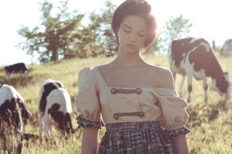 Фото Девушка среди коров (© Юки-тян), добавлено: 19.08.2011 10:45