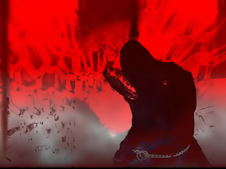 Фото Собака на красном фоне (© димка), добавлено: 19.08.2011 13:22