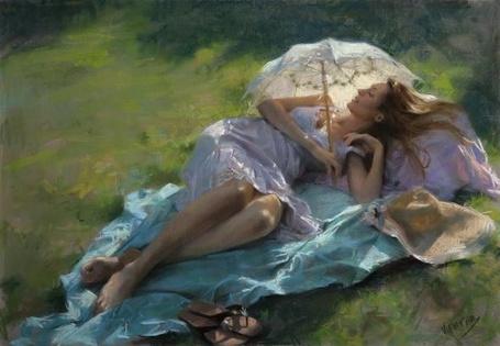 Фото Девушка  с зонтом (© TARAKLIA), добавлено: 19.08.2011 16:10