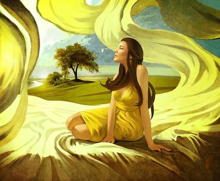 Фото Девушка в жёлтом (© Флориссия), добавлено: 23.08.2011 21:13