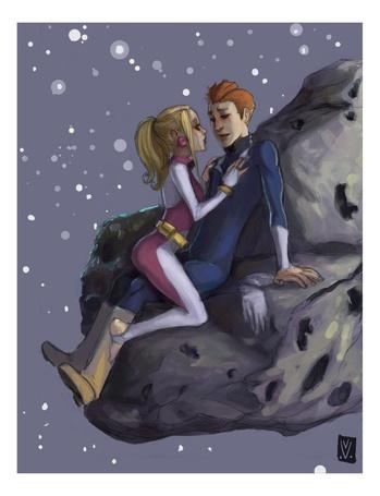 Фото Нас только двое - Любовь в космосе, на астероиде