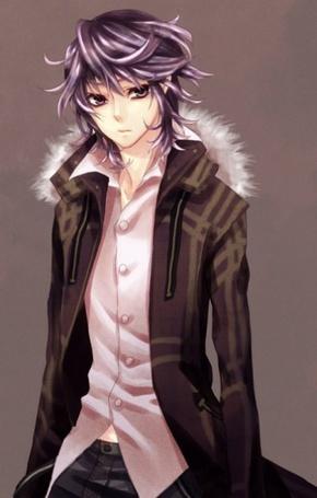 Фото Натсуно из аниме Shiki в пальто