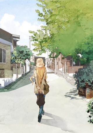 Фото Девушка идёт по улице (© D.Phantom), добавлено: 30.08.2011 09:31