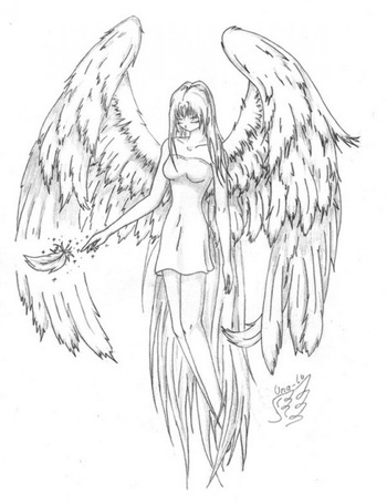 Фото Девушка-ангел с опущенной вниз головой (© Lola_Weazlik), добавлено: 31.08.2011 23:32
