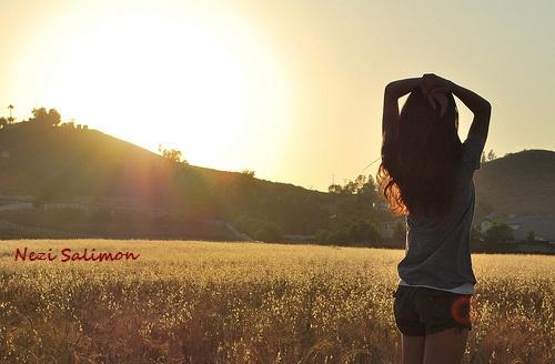 Фото девушек на аву на природе без лица