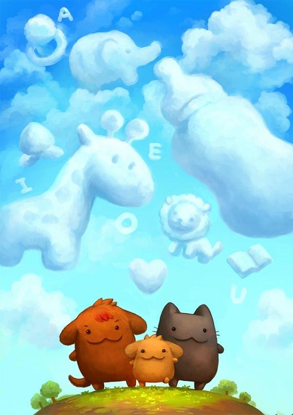 животные похожи на облака картинки кабинет руководителя