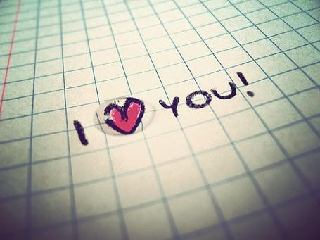 Фото В тетради написано I love you (© Юки-тян), добавлено: 03.09.2011 10:45