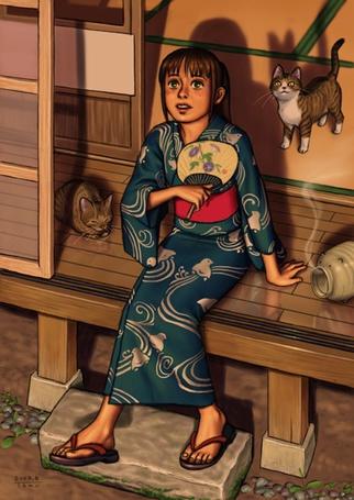 Фото Девушка смотрит на небо (© Юки-тян), добавлено: 04.09.2011 00:32