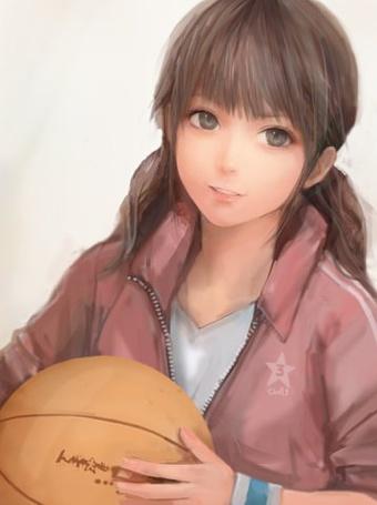 Фото Девушка с баскетбольным мячом (© Юки-тян), добавлено: 04.09.2011 11:37