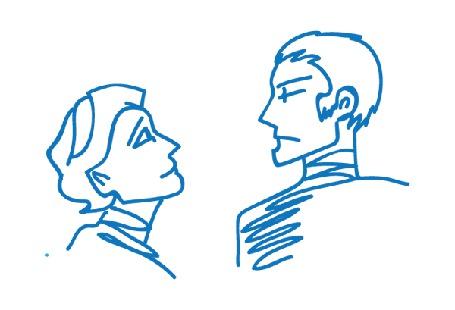 Фото Эмоциональные мужчина и женщина (© alcatel), добавлено: 05.09.2011 01:20