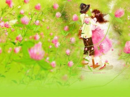 Фото Девушка и парень танцуют в цветочном поле (© TARAKLIA), добавлено: 07.09.2011 18:05