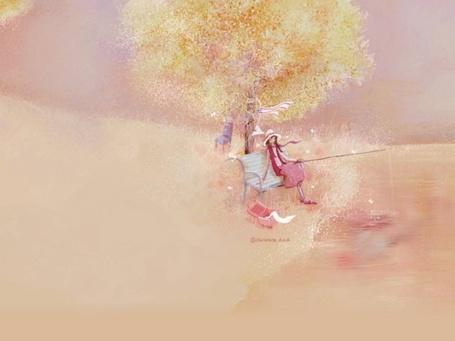 Фото Девушка сидит на скамье ловит рыбу на удочку (© TARAKLIA), добавлено: 07.09.2011 18:11