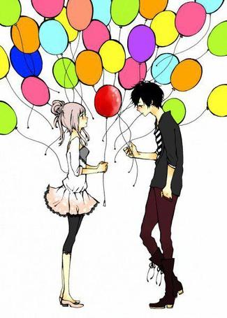 Фото Парень дарит удивленной девушке разноцветные воздушные шары (© Шепот_дождя), добавлено: 10.09.2011 16:07