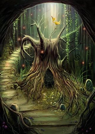 Фото Ступени ведут в пещеру, где живёт волшебник