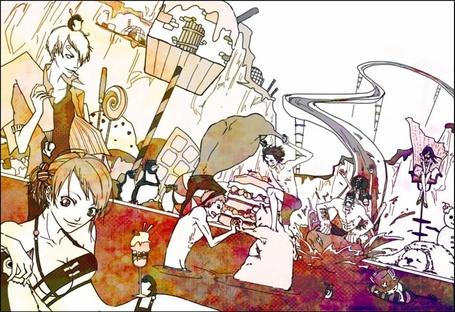 Фото Персонажи аниме 'One Piece' отдыхают