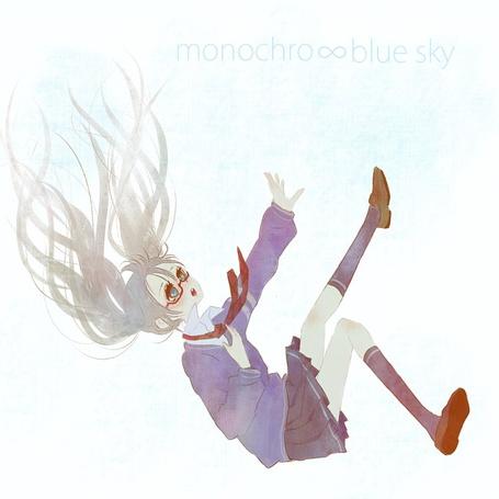 Фото Вокалоид Хатсуне Мику в клипе monochro~blue sky (© Юки-тян), добавлено: 15.09.2011 16:36