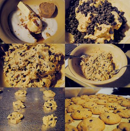 Фото Процесс готовки печенья с шоколадными каплями (© Радистка Кэт), добавлено: 15.09.2011 23:08