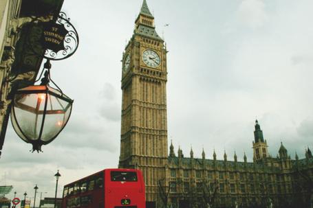 Фото Лондон, вид на часовую башню с колоколом (Биг-Бен / Big Ben)
