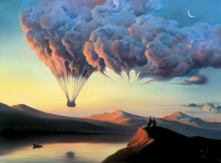 Фото Сюрреализм, воздушный шар из облаков (© Флориссия), добавлено: 18.09.2011 19:08