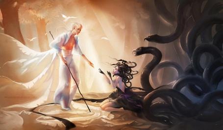 Фото Белый Ангел спасает любимую (© Anatol), добавлено: 22.09.2011 16:23