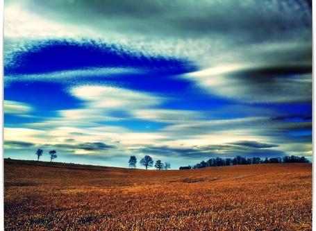 Фото Облака над полем (© Флориссия), добавлено: 29.09.2011 18:42